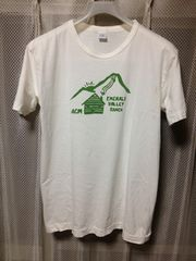 ダブルワークス ウエアハウス プリント半袖Tシャツ Sサイズ 白色×緑 日本製 ワーク 山