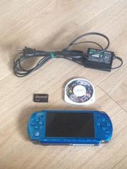 PSP3000 その他付属品 ブルー ソフト1本付き ガンダム