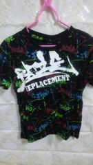 新品未使用激安激カコカラフルペイント×プクプリロゴ半袖Teeシャツ150