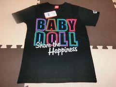 ♪新品 BABYDOLL HAPPINESSTシャツ 黒 150�p♪
