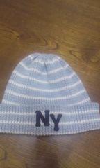 美品 子供用男女兼用ニューヨーク ニット帽子 150-160cm