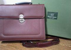 超美品ビジネスマン必携ヘンリーコットンズ高級ビジネスバッグ