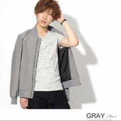 ランダムテレコVネックTシャツ【新品未使用】Grayグレー
