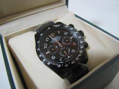 ROREX ノベルティ オールブラック 自動巻き腕時計