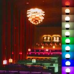 たった1個の電球だけで、多彩な演出をしてくれる多機能照明機器