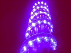超発光/防水 LEDチューブ 48�p パープル/紫