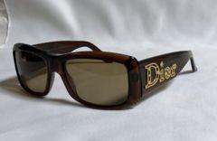 正規美 ディオール Dior カメリアロゴサングラス茶 ブラウン×ゴールドアイコン 眼鏡〇