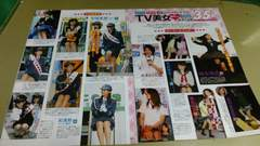 ★TV美女胸キュン制服ハプニング35連発★雑誌切抜き・5P。
