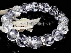 天然石★12ミリ銀彫四神獣水晶&Sライン螺旋彫水晶