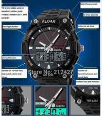 ■■■新品♪SKMEIソーラーパネルスポーツ腕時計★クロノグラフ2