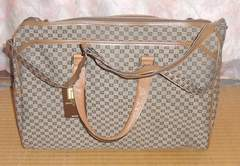 ピエールバルマンデザイン革製ボストン、ショルダーバッグ