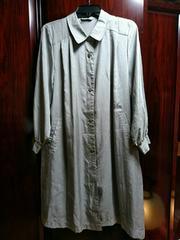 ミセス→グレー 薄手ロングコート 13号Lサイズ