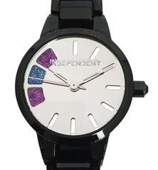 正規シチズン時計インディペンデントレディースウォッチブラックコーティング女性用黒