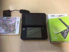 【美品】3DS本体ライム×ブラック+ソフト1★