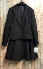 新品☆7号小さいプチサイズ黒スカートスーツお仕事にも☆b832