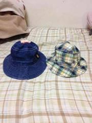 ミキハウスダブルB.ホットビスケット帽子2個セット