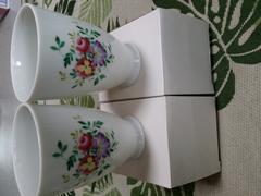 アンティーク☆未使用・高島屋購入ナルミ花柄タンブラー2個セット