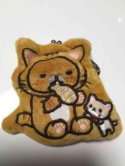 リラックマの小銭入れ がま口財布 猫ネコの着ぐるみ☆