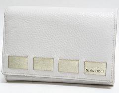 美品 NINA RICCI ニナリッチ 二つ折り財布 レザー 白