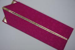 成人式卒業式振袖着物に♪リバーシブル重ね衿濃ピンク&ゴールド金