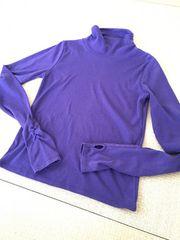 紫:ハイネックトップス:M