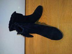 ;Barlieブーツ(黒)かわいいリボン🎀