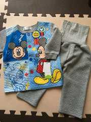 mickey☆腹巻付きキルトパジャマ90☆新品タグ付き