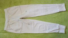 GUオフホワイト柔らか綿コットンニットスウェットイージーパンツ