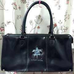 激レア廃盤ジャンポールゴルチェJeanPaulGaultierレザー黒型押しバッグ