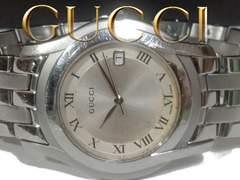 箱・証明付★正規 1スタ グッチ/Gucci 5500M 約14万 メンズ腕時計