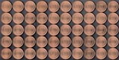 昭和64年10円青銅貨50枚売り。