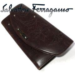 極レア 1スタ★フェラガモ/Ferragamo【イタリア製】長財布