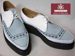 ジョージコックス パンク ロック トンガリ靴3705白アイスuk10