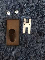 1円スタ!壁に付けられる家具 フック タモ材/ブラウン/無印良品