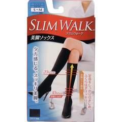 スリムウォーク 美脚ソックス ひざ下丈 ブラック S-Mサイズ