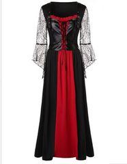 新品大きいサイズ6L〜8L 高身長 編み上げ魔女ドレスワンピース