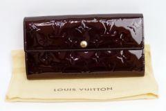 【本物】LOUIS VUITTON ヴェルニ長財布(アマラント) ヴィトン