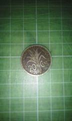 仏領インドシナ20サンチーム硬貨(1939年)汚れ多し♪
