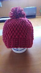 手作り手編みニット帽子
