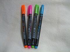 トンボ鉛筆 蛍コート マーカーペン 4色セット