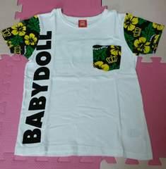 ベビードール☆ハイビスカスが可愛いTシャツ☆size140
