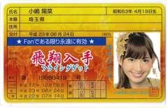 ラミネート 免許証カード●AKB48●小嶋陽菜 フライングゲット