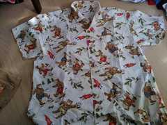 ミキハウス クマのプリントシャツ 大人用?大きめ