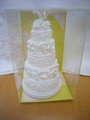ローズ レース ケーキ型 ミニ キャンドル ウェディング
