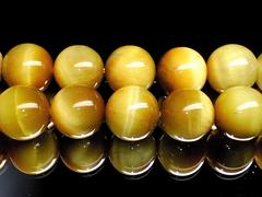 【10粒セット】天然石◇ゴールデンタイガーアイ 6ミリ