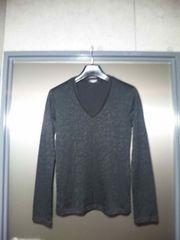 美品〓トルネードマート〓織柄ジャガード長袖カットソー〓黒