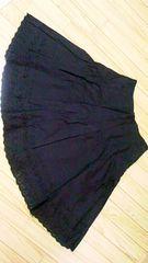 ◆フレアースカート☆ブラック☆黒◆ウエスト64☆中古