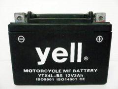 新品充電済(MF)yellバッテリーYTX4L-BSホンダディオカブ