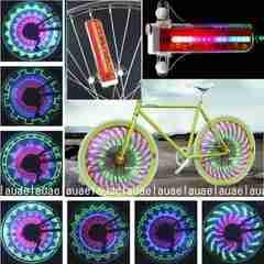 最新型★自転車用ホイールライト タイヤライト スポークライト 車輪ライト 32LED・防水