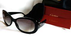 正規新古 新作 Cartier カルティエ 2Cロゴサングラス黒 付属完備 男女兼用